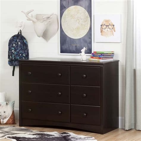South Shore 6 Drawer Dresser Espresso by South Shore 6 Drawer Changing Table Dresser In