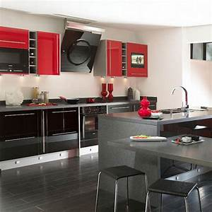 a la francais 36 With red and grey kitchen designs