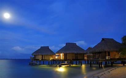 Beach Tropical Moon Nature Water Resort Bungalow