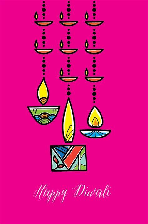 swinging diyas diwali cards festival cards diwali