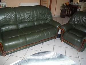 canape 3 places a cuir vert anglais avec clasf With canape cuir vert anglais