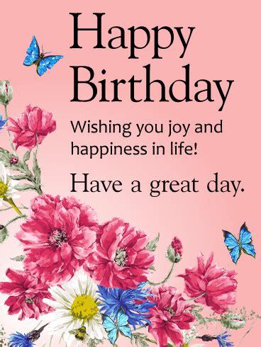 Wishing You Joy And Happiness! Happy Birthday Card