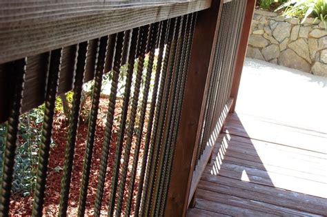 rebar deck railing frugal home diy deck ideas
