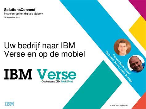 Ibm Verse Solutionsconnect 2014 Nl Utrecht Migration And