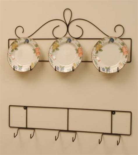 wrought iron plate hanger horizontal three 8 1 4 to 10 1 4 plates plate racks and hangers
