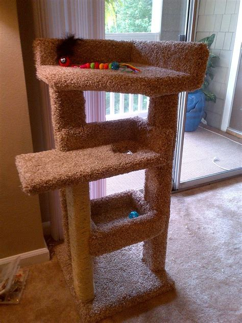 diy kitty scratching post bed build diy pets animals