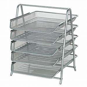 officemax brand steel mesh 5 tier file tray letter size 14 With 5 tier letter tray
