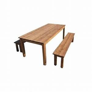 Table De Jardin Avec Banc : table de jardin bois avec banc ~ Melissatoandfro.com Idées de Décoration