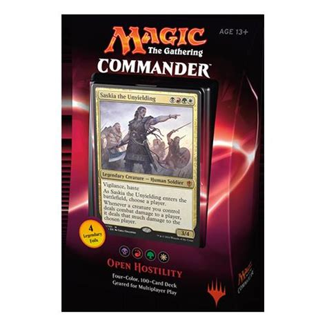 standard mtg decks 2016 mtg magic the gathering commander 2016 100 card deck open