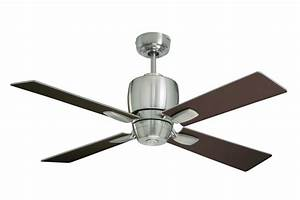 Emerson brushed steel quot veloce blade indoor ceiling