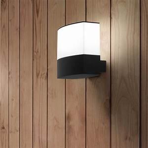 Applique Exterieur Blanc : applique murale d 39 ext rieur datna noir et blanc h19cm ~ Edinachiropracticcenter.com Idées de Décoration