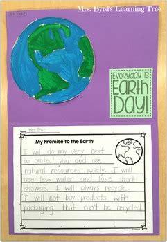 freebie earth day promise writing  craftivity