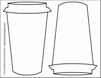 Cup Coffee Outline Cozy Clipart Template Printable