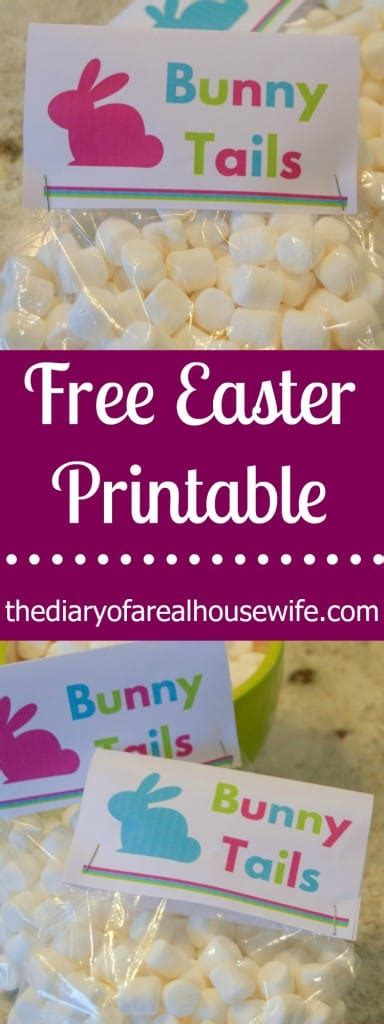 easter printable bunny tails  diary   real