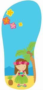 Kit Imprimible Cumpleanos Tarjeta Invitaciones Hawaiana #2 $ 7 499 en Mercado Libre