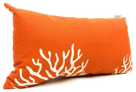 outdoor burnt orange coral small pillow modern outdoor