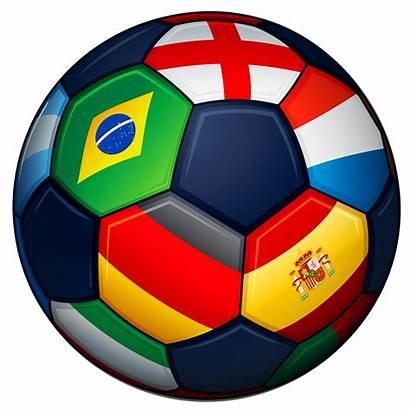 Football Transparent Clipart Ball Flags Soccer Sports