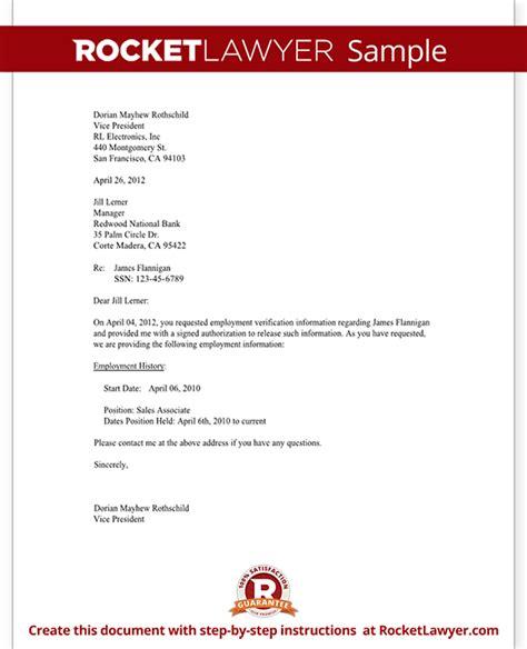 sample letter verification sample business letter
