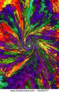 Background Image Neon Hot Colors Swirled To The Center