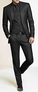 Men Slim Fit Suits Custom Made Charcoal Grey Groom Suit ...