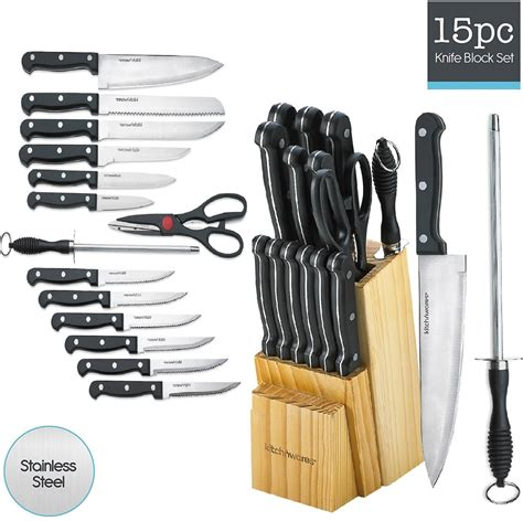 kitchen knives block set kitchen knife set 15 block stainless steel chef