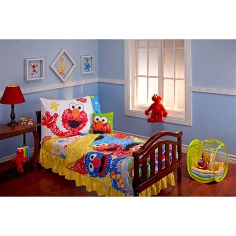 sesame street scribbles  piece toddler bedding set