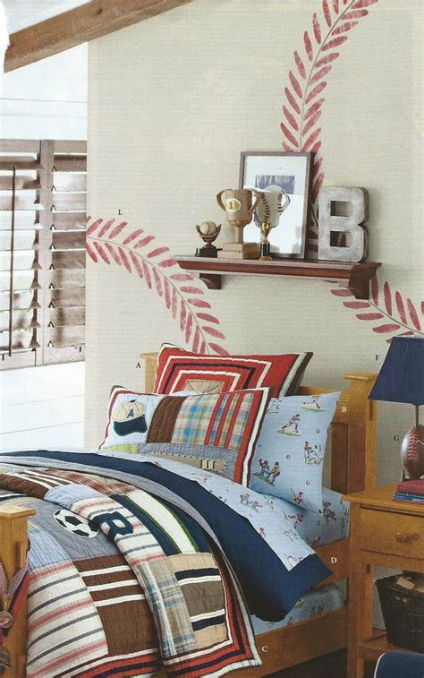 baseball themed bedding baseball theme bedroom kid ideas stitching 1494