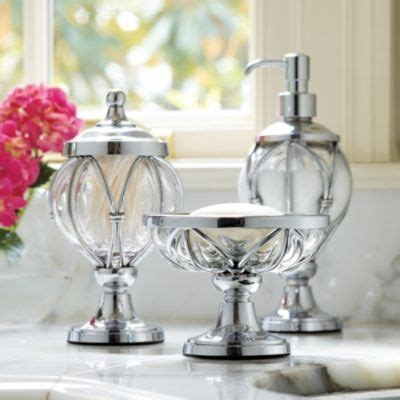 Caged Glass Bathroom Accessories