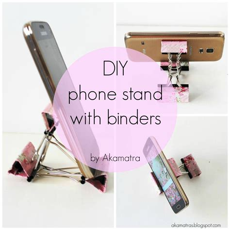 diy phone stand for desk diy smart phone stand with binders full tutorial akamatra