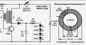 Wiring  U0026 Diagram Info  Simple Led Torch Wiring Diagram Schematic