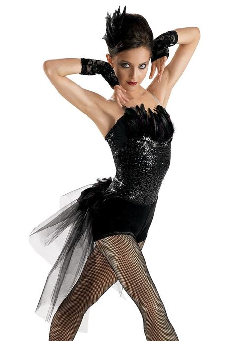 Black Feathered Sequin Leotard; Weissman Costumes | Dance costumes | Pinterest | Sequins Scarf ...
