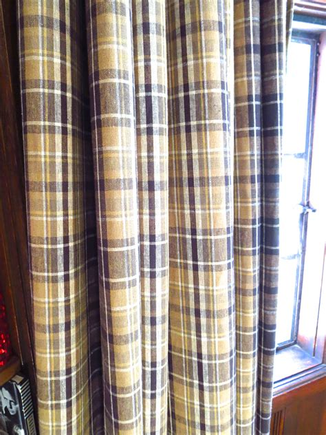 Plaid Curtains And Drapes - a gentleman s library cococozy