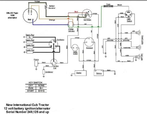 Farmall H Charging System Diagram by Wiring Diagram For Key Start 12 Volt Alternator