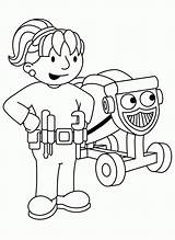 Bob Builder Coloring Train Colouring Boyama Printable Meslekler Sheets Sayfası Characters Preschool Something Engineer Boys Children Cartoon sketch template