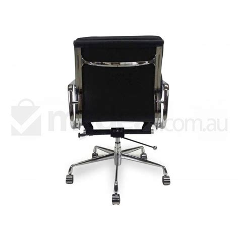 replica eames soft pad leather office chair black buy