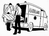 Ambulance Coloring Pages Realistic Driver Patient Important Very Hospital Vehicle Nearest Carry Currently sketch template