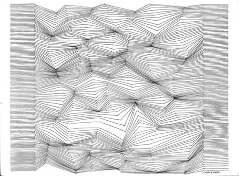 drawing  lines optical design art lesson