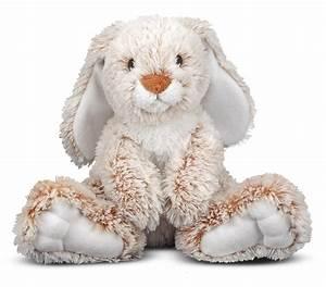 Amazon.com: Melissa & Doug Burrow Bunny Rabbit Stuffed ...