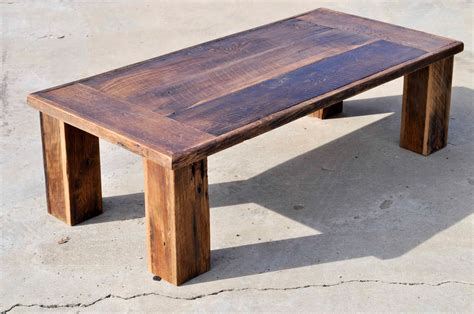 Shop all sorts of styles and sizes of end tables and coffee tables from at home. Reclaimed Oak Barn wood Coffee Table The Herc by DohlerDesigns
