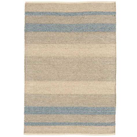 tapis moderne ray 233 en laine coton et viscose bleu ciel