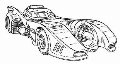 Batmobile 1989 Blueprints Batman Coloring Pages Bat