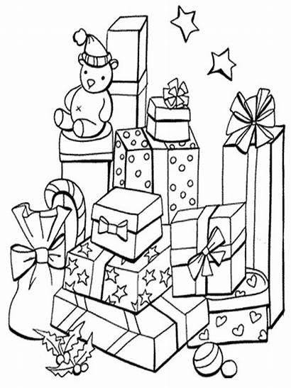 Natal Gambar Mewarnai Coloring Gift Printable Presents