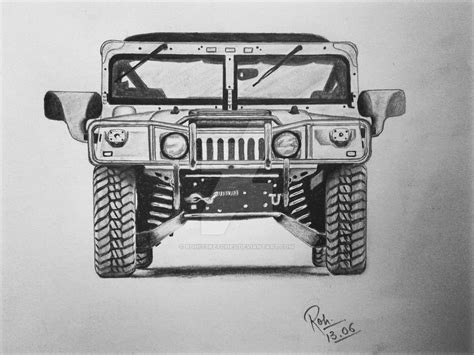 Hummer Sketch By Rohitsketches On Deviantart