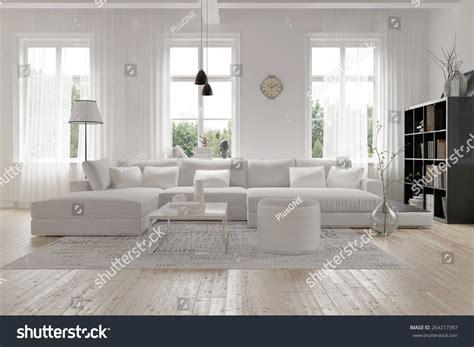 modern spacious lounge living room interior stock