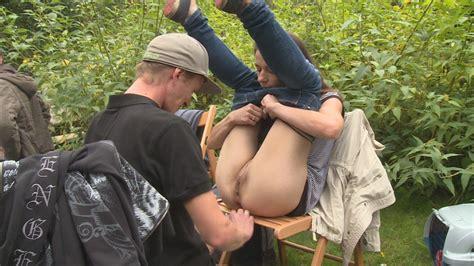 Youthful outdoor gangbang photos at XXX Porn Pics