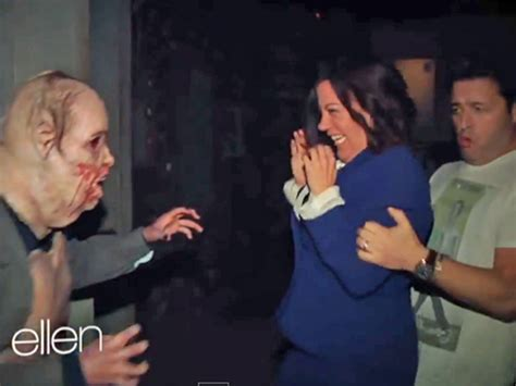 degeneres andy haunted house ellen degeneres freaks out staffers by sending them to walking dead haunted house today com
