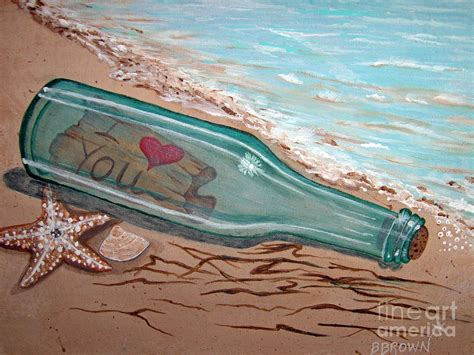 message in a bottle painting by brenda brown
