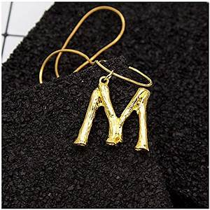 minghua large initial necklace gold big letter script name With big letter necklace gold