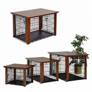 diy dog crate table top woodworking projects plans With dog crate and table