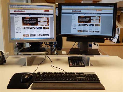 diy standing desk riser build a diy monitor riser how to metals